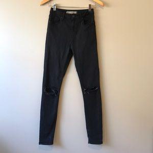 Topshop | Jamie Ripped Skinny Jeans 26